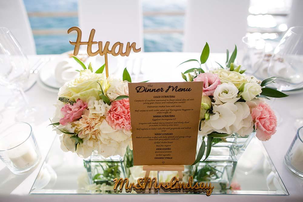 Bonj les bains wedding detail